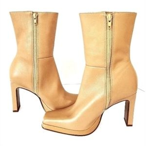 STEVE MADDEN STARLET TAN LEATHER BOOTS SZ 7.5